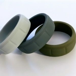 Other - Silicone Wedding Bands for Men set of 3